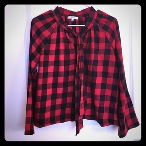 Madwell plaid bow tie top small